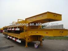 Xingtai Huatong 30 ton 3 axle low flat bed or lowbed semi trailer of 2012