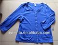 Ladies' 60% 40% algodão poliéster blusa de malha-- kf5480