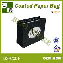 Boutique&fashion black paper bag for shopping