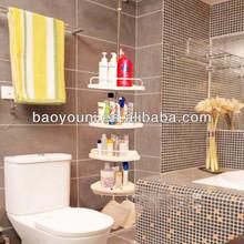 BAOYOUNI PP triangle bathroom shelf bathroom corner rack 601D