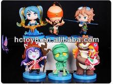 Wholesale 6PCS Set Collectible League of Legends LOL cute pvc figure Action figure