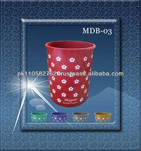 20L new printing design plastic dustbin/waste bins/garbage organizer