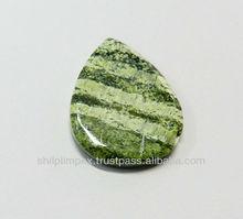 Shilpiimpex gemstone for sale, Silver lining jasper pear cabochon