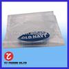 custom plastic packaging bags/adhesive backed plastic bags with header/seal plastic bags