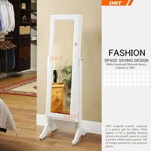 United States modernizes white large storage cabinet jewelry set big mirror