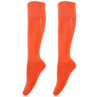 Sport Hosiery Fashion Orange Knee High Combed Cotton Baseball Vallyball Football Stockings For Men and Women