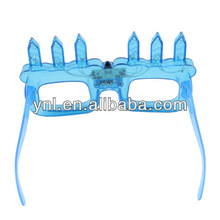 Blue LED light Up Happy Birthday Candles SunGlasses Party Glasses