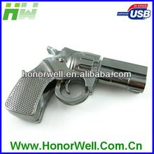Promotional Customized Logo Gun-shaped Metal USB Flash Memory 8GB