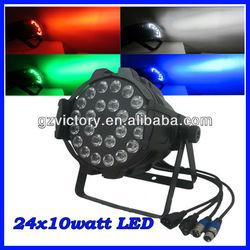 New 24*10w RGBW quad in 1/ RGBWA 5 in1 led par light/ par light stage light