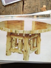 Rustic finished dining table
