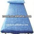 Atılabilir nonwoven 100% polyester mikro şeftali baskılı çarşaf kumaş