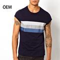 100% T-shirt de algodão listrado barato roupa por atacado China