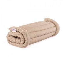 (Double) Taupe Stripe Roll Up Bed