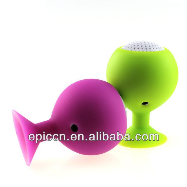 New arrival mini sucker speaker, ball sucker speaker with suction cup 2013 gift