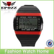 Best-selling red rubber men/women sport watches digital women/men watches promotional watch gift