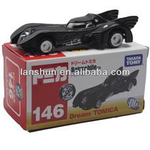 "Takara Tomy DC Batmobile 8cm/3"" Dream Tomica 146 New in Box"