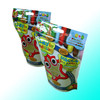 Colorful Euro Hole stand up candy packaging bags with zipper