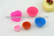 High Quality Food Grade Silicone Cupcake Pans Shapes.Compliance With FDA/SGS