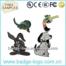 cute custom metal animal-shaped badge with clutch