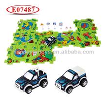 Kids Plastic Electric Track Car Puzzle E07487