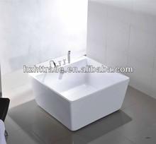 simple acrylic small freestanding square bathtub