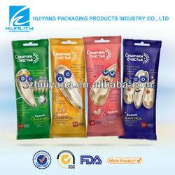 custom printed food packaging plastic bags for snack food packaging