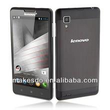 Brand New Lenovo P780 Mobile Phone Quad Core Android 4.2 5 inch IPS Screen Dual SIM 8MP Camera Black Color
