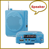 Mini portable mp3 audio speaker with repeat function