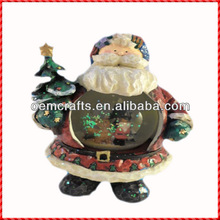 Creative resin santa custom christmas Snow Ball Sounvenir