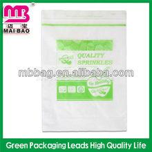 small ziplock plastic packaging bag for medication