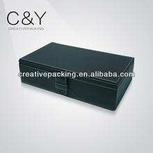 CY35 Beautiful PU leather with white stitching watch display box