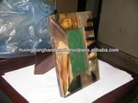 Exotic souvernir for friends & family, buffalo horn photo frame, Vietnam high quality handicraft