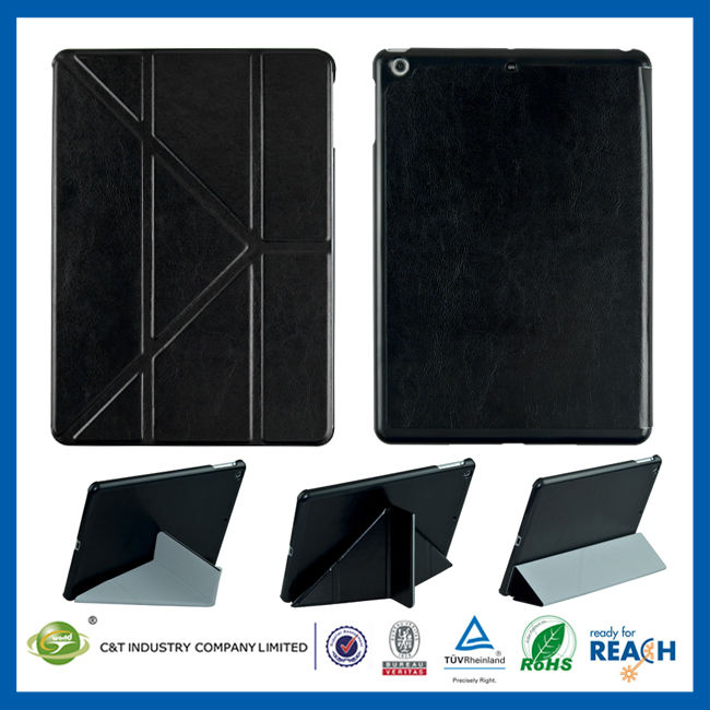 C&T Fashionable Luxury Leather stand for ipad air flip case