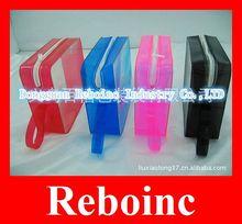 File plastic ziplock pvc bags wih orange handle Reboinc-D-Z064