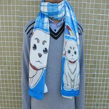 Custom made snow velvet digital printed neckerchief