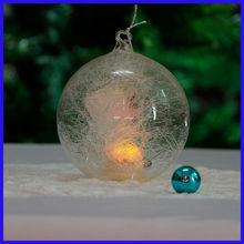 Beautiful Clear Amazing Spun Glass Ball with Led Light
