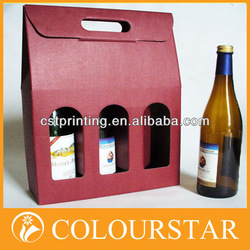 Cardboard wine carrier box