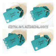 Thank You Tags Custom Colors gift tag wedding hang tag