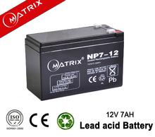 China UPS lead acid battery 12V 7Ah manufacturer