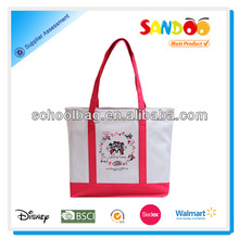 popular hot sell school canvas tote bag for girls