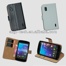 High quality leather case for LG Nexus 4 E960, for Nexus 4 leather case