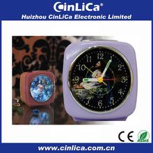 Patent uniform light projection alarm clock professional manufacturer CK-335