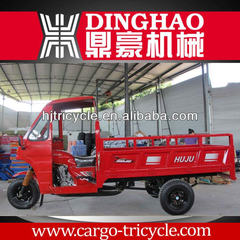 dinghao 200cc mercado asiático cabine três rodas de motocicleta