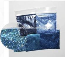 blue solvent resistance glitter sample set christmas supplies