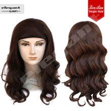 Gorgeous Side Parting Brazilian Loose Deep Wave Virgin Hair Wigs For Women