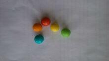 Artificial flavor bubble gum ball