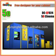 Nicaragua amusement park 5d cinema machine, entertainment simulator cinema platform manufacturer