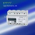 Logos trilho din três fase multi- taxa de medidor de energia eletrônico trifásico caixa de medidor elétrico