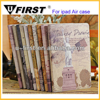 Slim leather case for ipad 5, for ipad air leather case, for ipad air case