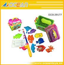 nueva venta caliente niños juego de la pesca magnético juguetes juego de la pesca de peces de plástico de juguete oc0139177